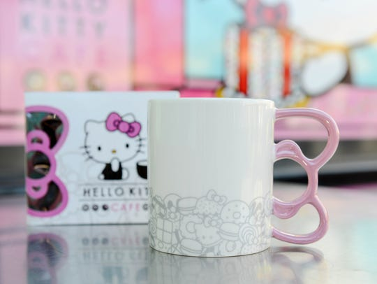 The bow-handle mug from the Hello Kitty Cafe Truck.