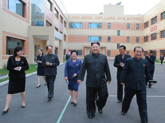 This undated picture released from North Korea's official Korean Central  News Agency (KCNA) on October 19, 2017 shows North Korean leader Kim Jong  Un, ...
