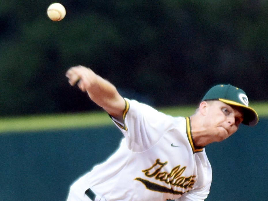 Gallatin High senior James Rockwell struck out 12 hitters while pitching a three-hit shutout in Monday evening's 3-0 victory at Henry County.