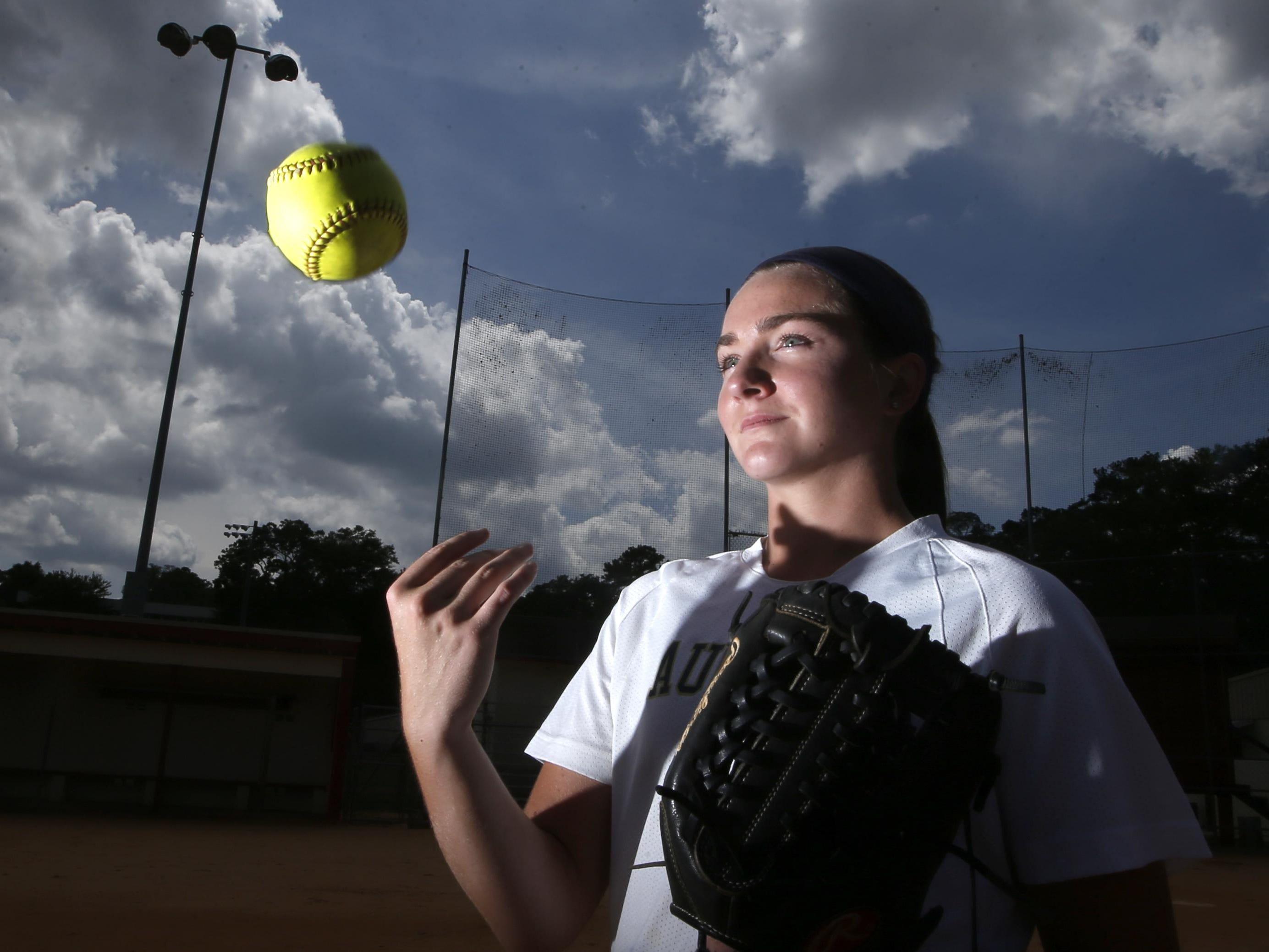 Aucilla Christian freshman Elizabeth Hightower, the 2015 All-Big Bend Pitcher of the Year