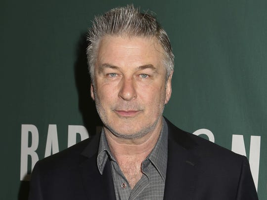 "In this April 4, 2017, file photo, actor Alec Baldwin appears at Barnes & Noble Union Square in New York City to sign copies of his new book, ""Nevertheless: A Memoir"" in New York."