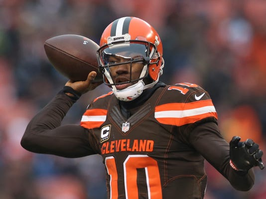 info for b70ac 7172b Browns' Thomas feels quarterback RG3 could be 'the guy'