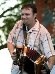 Damon Troy on the accordion.