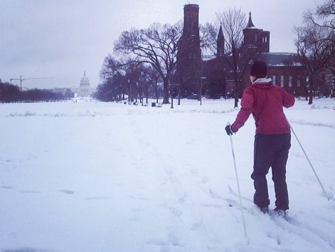 Skiing at the National Mall