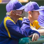 LSU head coach Paul Mainieri's Tigers swept a doubleheader from Georgia on Saturday.