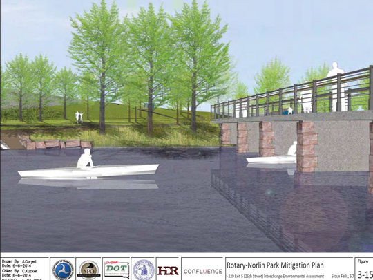 An artist rendition shows the planned bridge to connect
