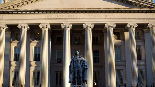 The U.S. Treasury Department building in Washington.