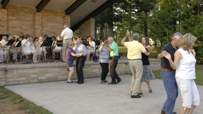 Dancers are welcome at the Wisconsin Rapids City Band's final summer concert at Robinson Park on Tuesday night.
