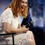 """Actress Lily James is appearing now in both """"War & Peace"""" on television and in the new film, """"Pride and Prejudice and Zombies."""""""