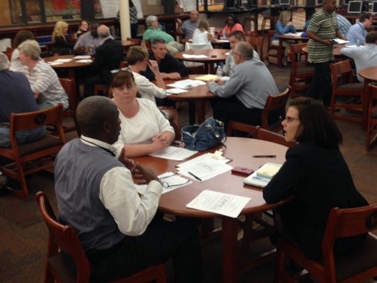 """About 40 people attended Thursday's community forum on race relations at Valley High School, and offered feedback on an """"equity action plan."""""""