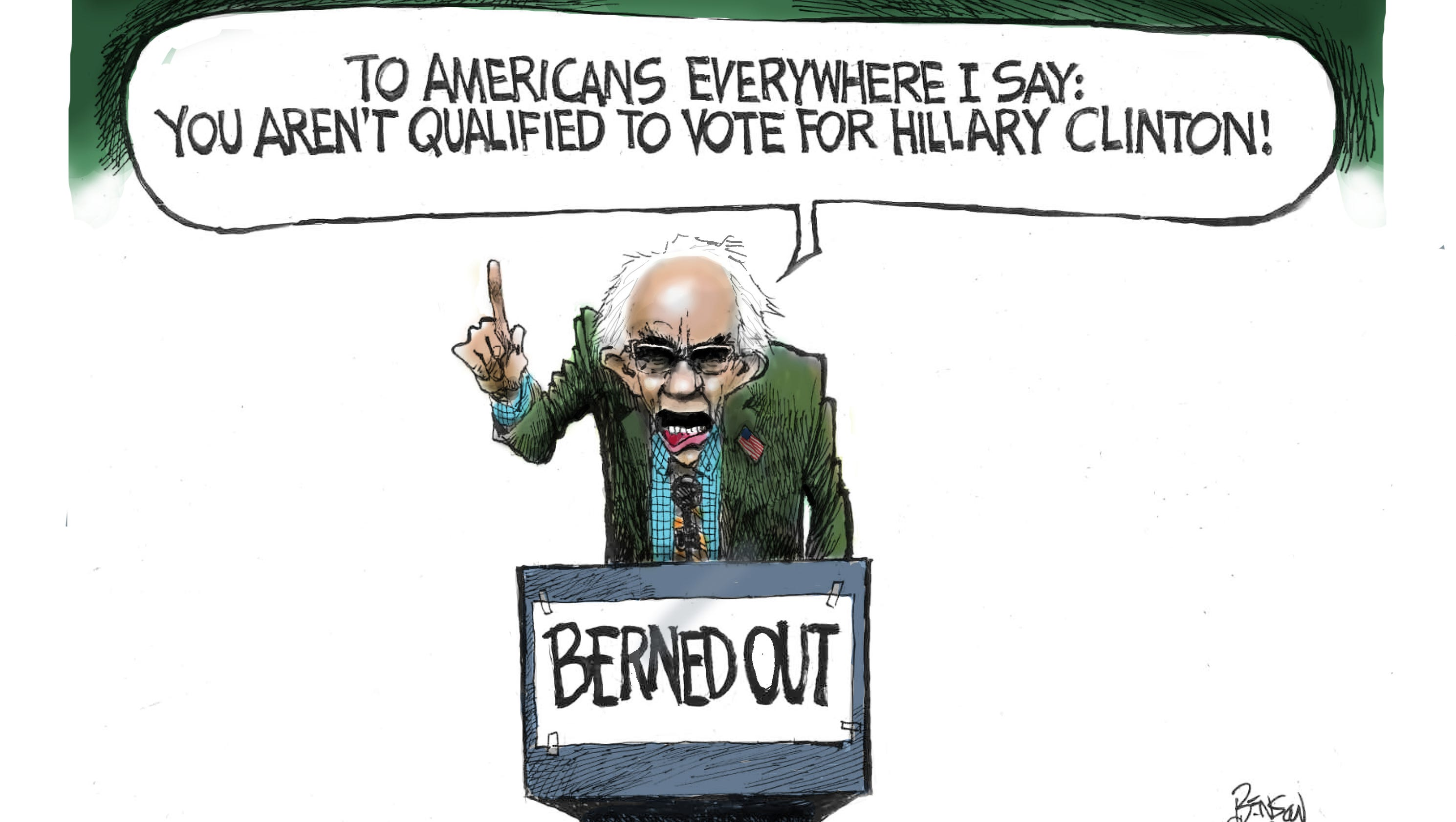 Today S Toon Smell The Bern