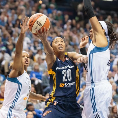 Briann January (20) scored a team-high 19 points for the Fever.