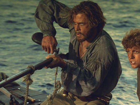 """Chris Hemsworth and Tom Holland star in """"In the Heart of the Sea."""""""