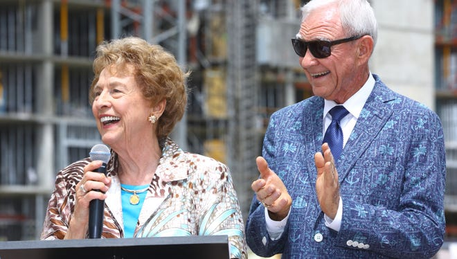 Richard and Jan Oliphant accepted their star on the Palm Springs Walk of Stars last week.