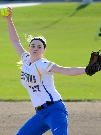 As a freshman, Gia Szada has shared pitching duties