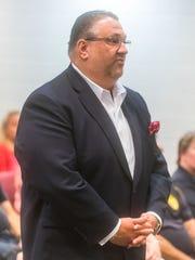 Vineland Mayor Anthony Fanucci talks with Buena Borough