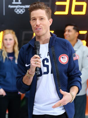 Team USA Olympic hopeful Shaun White is interviewed during NBC's TODAY Show on Feb. 8, 2017 in New York City.