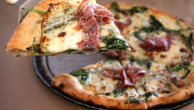 The Lombardy pizza at Pizzology, 13190 Hazel Dell, Carmel, is topped with prosciutto, arugula, smoked mozzarella and parmesan reggiano.