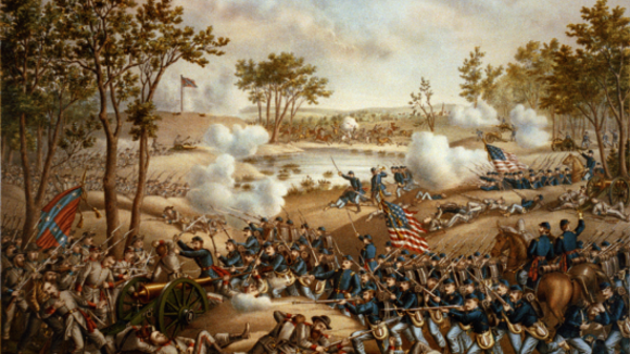 Battle of Cold Harbor by Kurz and Allison, 1888.