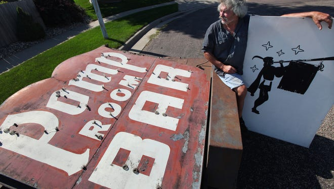 Jon Ertz, whose family owned the Pomp Room, picked up the old sign at Pride Neon and brought it back to his home in southwest Sioux Falls.