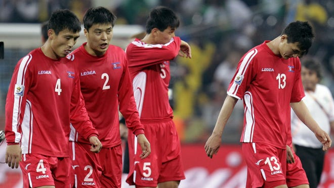 North Korea lost all three matches in the 2010 World Cup before returning home.