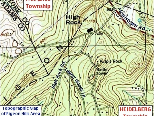 Hill Topographic Map.Pigeon Hills Debunks Red Lion Myth
