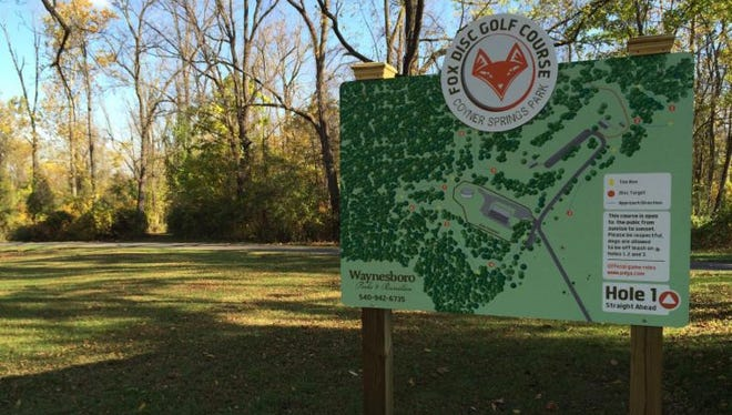 Waynesboro Parks and Recreation opens the Fox Disc Golf Course at Coyner Springs Park.