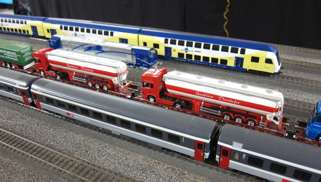 An expansive HO-scale model train system featuring European landmarks will be on display at the Plymouth District Library starting later this month.