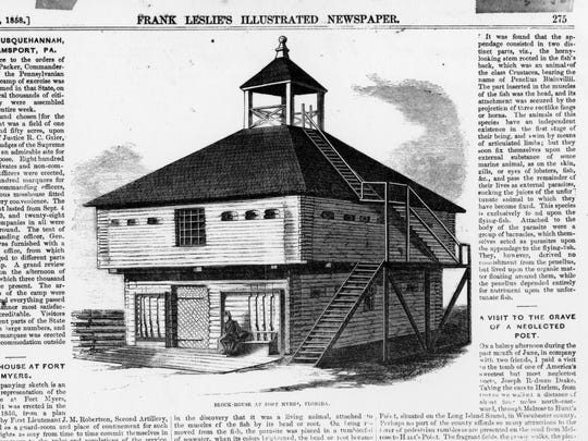 This engraving of Fort Myers appeared in Frank Leslie's Illustrated Newspaper