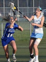 Decatur's Bridgitte Ardis battles for a ball against