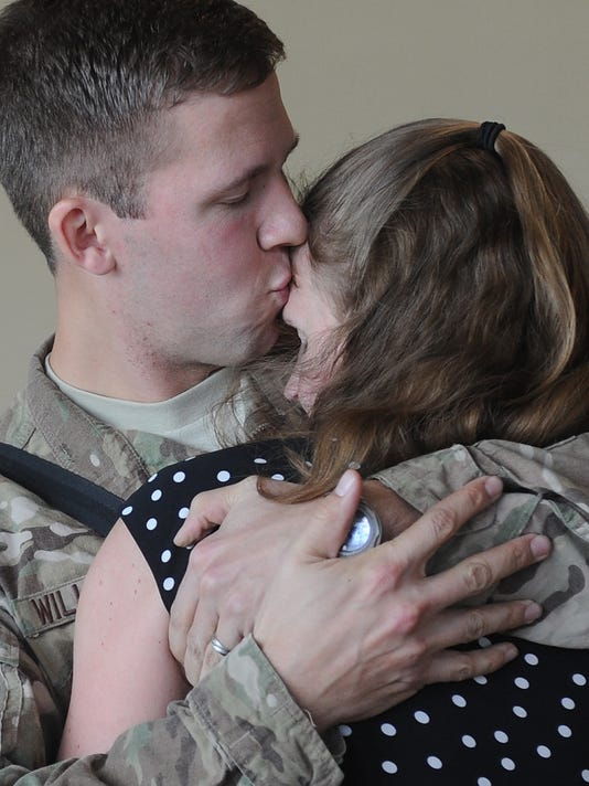Rob Willoughby returns from deployment