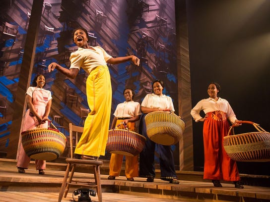 """Cynthia Erivo and cast of """"The Color Purple"""" on Broadway."""