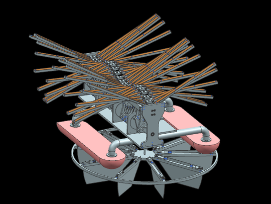 This graphic shows the inner workings of The daVinci