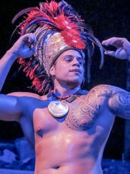 Mauiti Miagoux of the Mana Hune dance group performs