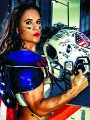 Jen Welter is believed to be the first woman to appear