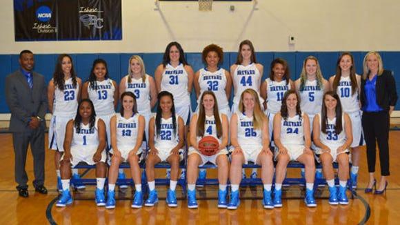 The Brevard College women's basketball team.