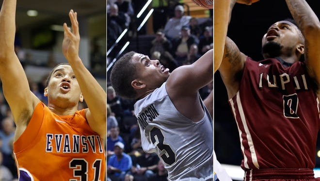 D.J. Balentine (Evansville), P.J. Thompson (Purdue) and Darell Combs (IUPUI) have been important to their teams in the opening weeks of the season.