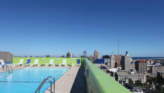 As part of Doors Open Milwaukee, visitors can take in the view from the rooftop pool of the Catholic Financial Life building.