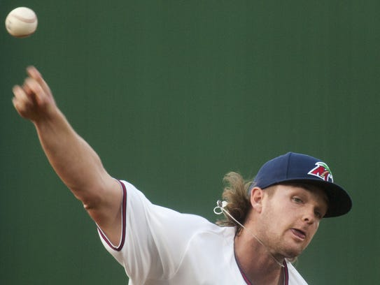 he Fort Myers Miracle's Kohl Stewart pitches against