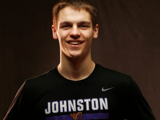 Johnston's Camden Vander Zwaag is a member of the Des