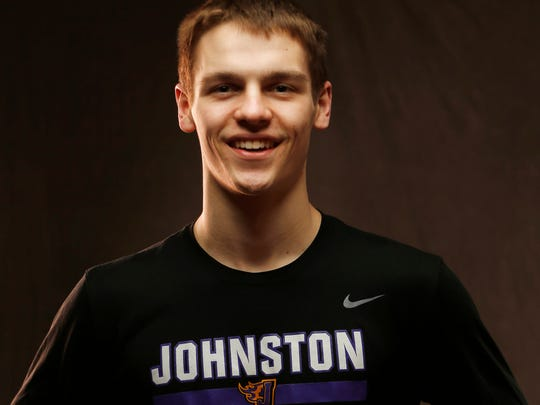 Johnston's Camden Vander Zwaag is a member of the Des Moines Register's All-CIML boys basketball team (Wednesday, Feb. 28, 2018).