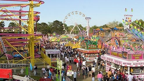 A midway featuring 45-plus carnival rides and an 80-foot roller-coaster is the star attraction at the St. Mary's Polish Country Fair.