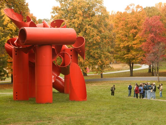 """Alexander Liberman's """"Iliad"""" is one of the pieces at Storm King Art Center in New Windsor."""