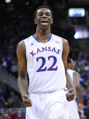 Andrew Wiggins had an up-and-down season at Kansas.