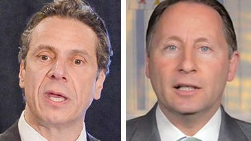 Gov. Andrew Cuomo, left, and his Republican challenger, Westchester County Executive Rob Astorino, will debate just once: with two third-party candidates in Buffalo.