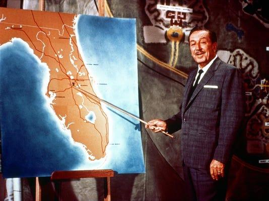 Walt Disney in Florida art