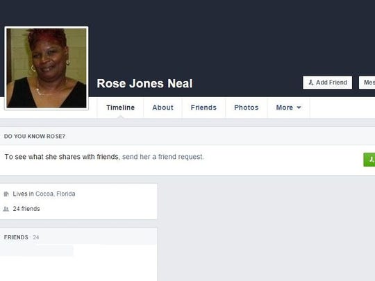 Rose Neal was killed early Sunday in a four-vehicle,