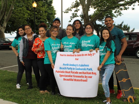 Members of the Perth Amboy Youth Alliance are helping