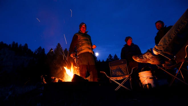 Enjoy a campfire on the bluff Friday night at California Woods Nature Preserve.