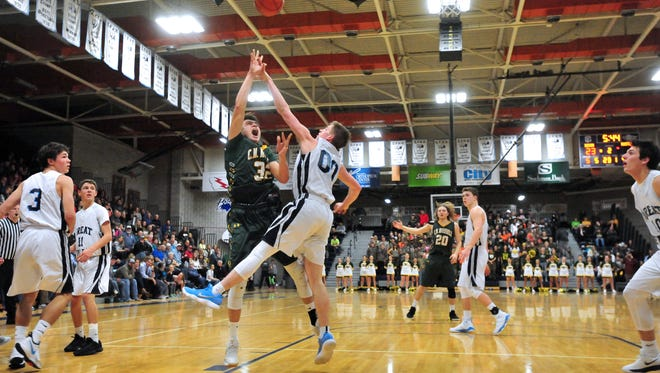 The first crosstown boys' basketball game of the year in Great Falls is Thursday, Jan. 10, at CMR Fieldhouse.